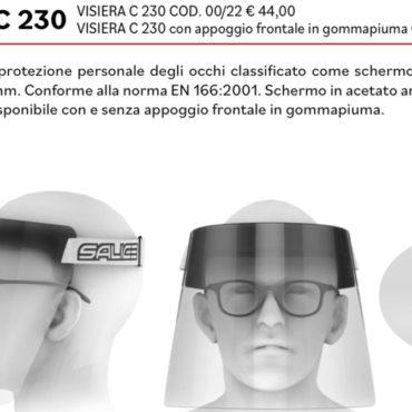 maschera protettiva salice occhiali